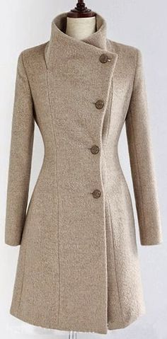 Fashion For Women: Wool blend winter fashion coat