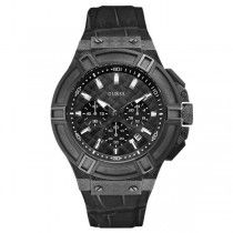 GUESS Black Leather Chronograph W0408G1
