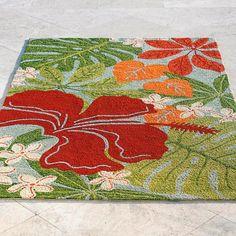 Hawaiian Leaf Outdoor Mat