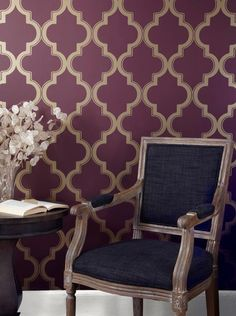 Apartment decor. Temporary wallpaper. Tempaper - Marrakesh Wallpaper MA at 2Modern.