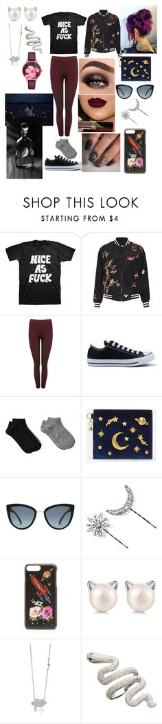 """""""It Must Be The Madness And The Magick That I Feel Inside"""" by sweetheart-the-moonbear ❤ liked on Polyvore featuring Alice + Olivia, M&Co, Converse, MANGO, CHARLES & KEITH, Jennifer Behr, Dolce&Gabbana and Ted Baker"""