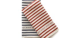 Parisian Striped Linen Tea Towels (set of 2)