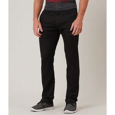 Volcom Frickin Modern Straight Pant ($55) ❤ liked on Polyvore featuring men's fashion, men's clothing, men's pants, men's casual pants, black, mens zip off pants, mens zipper pants and volcom mens pants