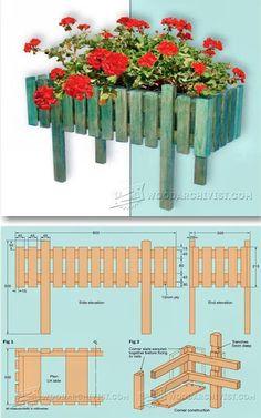 Patio Planter Plans - Outdoor Plans and Projects | WoodArchivist.com