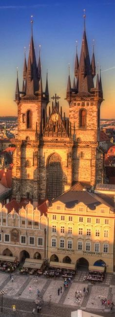 Prague, Czech Republic - It doesn't get much more beautiful than this. Our Lady Before Tyn church in Old Town Square. I love this city!