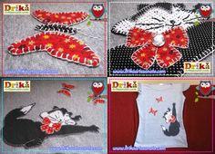 Patchwork moldes gatinha manhosa para patch aplique • Drika Artesanato - O seu Blog de Artesanato!