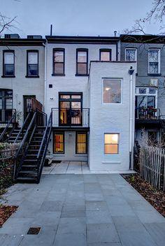 Back of brownstone renovation in Park Slope, Brooklyn by Ben Herzog Architect.