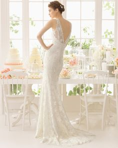 Adaggio vestido de novia corte sirena