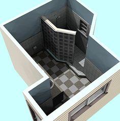 Small Doorless Shower Designs | doorless shower dimensions ...