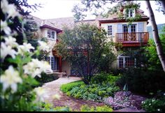 Vail, CO Residence. Entry courtyard. Garden. Architecture. Landscape architecture.