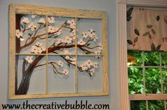 The Creative Bubble: Painting on Old Windows (with acrylic paint)