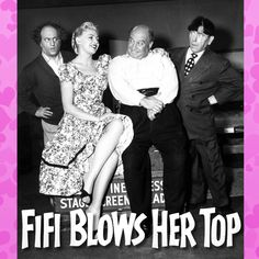 Romantic Antics From The Three Stooges : Larry, Moe and Joe started shooting Fifi Blows Her Top today in 1957. As usual a pretty girl (that's French born actress Vanda Dupre as Fifi in the picture) was the center of attention and, as usual, The Boys resolve the situation in their unique madcap way and save the day. Perhaps Joe's found a Valentine's Day? Nyuk! Nyuk! Nyuk! #thethreestooges #threestooges #3stooges #valentinesday
