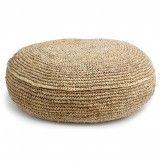 Raffia Cushion Round