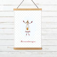 """Grußkarte """"Birnenkönigin""""  Sommer Gruß Etsy, Decor, Birthday Party Invitations, Craft Gifts, Invitations, Templates, Summer, Cards, Decoration"""