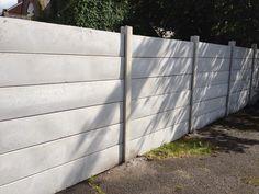 poured concrete fence - Google Search