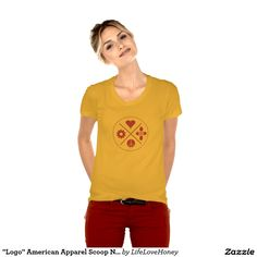"""Logo"" American Apparel Scoop Neck T-Shirt"