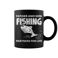Father And Son Fishing Partners For Life Mug #mug #ideas #image #photo #gift #coffee