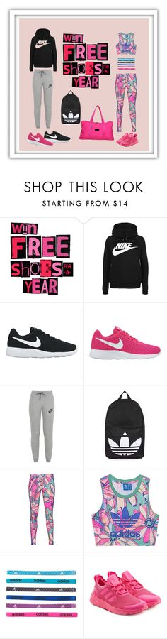 """Sport"" by kistajermonika on Polyvore featuring NIKE, Topshop, adidas Originals and adidas"
