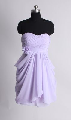 Strapless A-line chiffon over satin bridesmaid dress,bridesmaid gowns dress,bridesmaid gowns dresses
