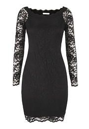 black lace sheath dr