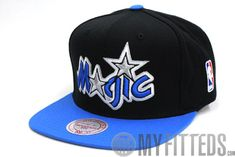 Orlando Magic Classic Jet Black Blue Mitchell and Ness Snapback 5a6deeed18a1