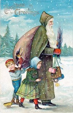 Did you know...? Santa History. Early images of Father Christmas over the centuries featured him wearing green robes.