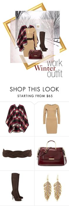 """""""Winter work outfit"""" by daricilar-designstudio ❤ liked on Polyvore featuring Topshop, Filippa K, Valentino, Nine West, Sergio Rossi and Elizabeth and James"""