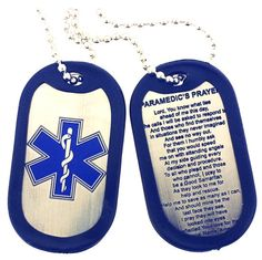Star of Life Paramedic Prayer Dog Tag DT015 by RescueTees on Etsy