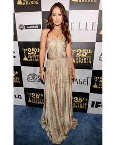 Olivia Wilde at the 2011 Indie Spirit Awards in a Ralph Lauren gown, Sergio Rossi heels and Tiffany & Co jewels: Perfect!