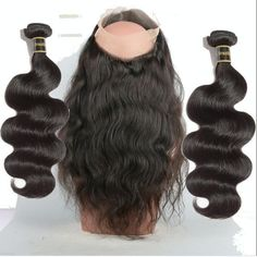 360 Lace Frontal Full Band Closure With 2 Bundles Peruvian Body Wave Hair Weft