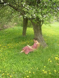 Leer la Biblia bajo la sombra de un arbol, es increible!!