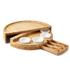 The Entertainer's Compact Cheese Board - Compact Swivel Cheese & Tapas Board Unique Gifts For Men, Unusual Gifts, Cool Gifts, Wooden Cheese Board, Cheese Board Set, Chocolate Covered Almonds, Christmas Gifts For Women, Kitchen Gifts, Hostess Gifts