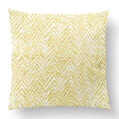"18"" Custom Outdoor Zebra Cushion  Zebra Item# CC-OD0008 100% Polyester Cover 100% Polyester Fill Yellow Custom Outdoor Cushions, Fill, Throw Pillows, Yellow, Cover, Prints, Design, Toss Pillows, Cushions"