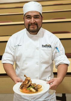 Southampton's Hector Franco won Suffolk County Community College's Chopped-like culinary competition,Battle for the Beach,with a tasty pan seared chicken with natural au jus. The competition was …