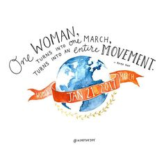 """""""One woman turns into one march, and one march turns into an entire movement."""" —NRDC President, @RheaSuh, on 1.21.17  Sending a heartfelt thank you to our sponsor, @nrdc_org. Without your support, the #WomensMarch could not have been possible.  #WMWArt: @KimothyJoy"""