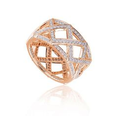 Keiko fashion diamond ring Availability: In stock Truly notable this fashion diamond ring feature 232 round hand picked ideal cut diamonds set in 14K Gold, total weight 0.99ctw  $2173.71