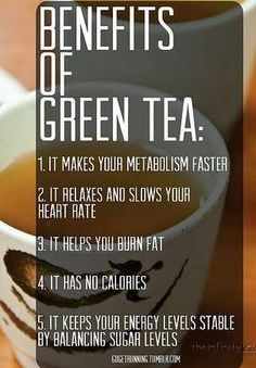 """According to my """"blood diet,"""" which I mostly trust, I'm not good with green tea. But, I think I will start drinking it again and see how I fare. Green tea is AMAZING for our health! This Green Tea Mango Smoothie is also amazing :-) Healthy Drinks, Healthy Tips, Healthy Choices, How To Stay Healthy, Healthy Weight, Eat Healthy, Healthiest Drinks, Healthy Habits, Health And Nutrition"""