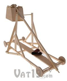 Working Wood Trebuchet Kit: Build your very own working medieval trebuchet!