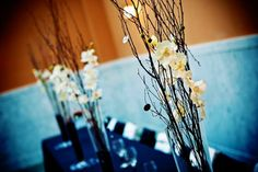 <3 Our Wedding   #wedding #centerpieces #branches