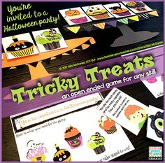 Everyone wants TREATS for Halloween! This open ended game is perfect for reinforcement during drill/practice of skills like sight word drill, math facts drill, articulation drill, fluency drill, answering questions and other tasks that children need motivation to complete.