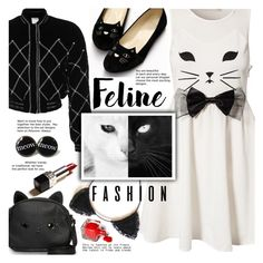 """""""Feline Fashion"""" by gabrilungu ❤ liked on Polyvore featuring Reverse, HUISHAN ZHANG, Loungefly and catstyle"""