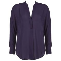 Pre-owned Vince Eggplant Silk Top (135 CAD) ❤ liked on Polyvore featuring tops, blouses, eggplant, silk top, purple silk top, vince blouse, vince tops et purple top