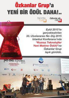 """Türkiye'de ilk ve dünyada sayılı makinelerden biri olan 450 ton çekme gücüne sahip THDD 450 Yönlendirilebilir Yatay Sondaj Makinesi  AKATED tarafından """"Kazısız Teknolojiler Yeni Makine"""" ödülüne layık görüldü."""