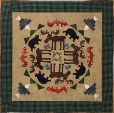 Mountain Moose 5 Circle of Friends Quilted Lizard Quilt Pattern Applique | eBay