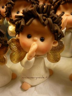 *POLYMER CLAY ~ Paulas angels by marytempesta, via Flickr