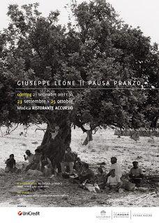 """""""Pausa pranzo"""", mostra fotografica di Giuseppe Leone nel Ristorante Accursio a Modica (RG)."""