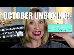 OCTOBER UNBOXING | Glossybox | Beauty Box 5 | Frugalista Blog subscription boxes, makeup over 40