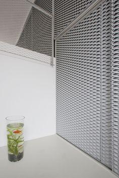 by Pasel Künzel Architects - Design Milk Interior Design Magazine, Architecture Details, Interior Architecture, Wooden Facade, Interior Design Colleges, Metal Cladding, Expanded Metal, Showroom, Facade Design