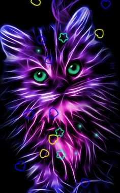 Neon Kitty Wallpaper by - - Free on ZEDGE™ now. Browse millions of popular elegance Wallpapers and Ringtones on Zedge and personalize your phone to suit you. Browse our content now and free your phone Kitty Wallpaper, Unicornios Wallpaper, Sparkle Wallpaper, Butterfly Wallpaper, Cute Wallpaper Backgrounds, Animal Wallpaper, Pretty Wallpapers, Colorful Wallpaper, Galaxy Wallpaper