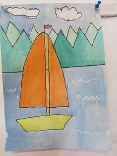 Játékos tanulás és kreativitás: Vitorlás hajó rajzolása, festése